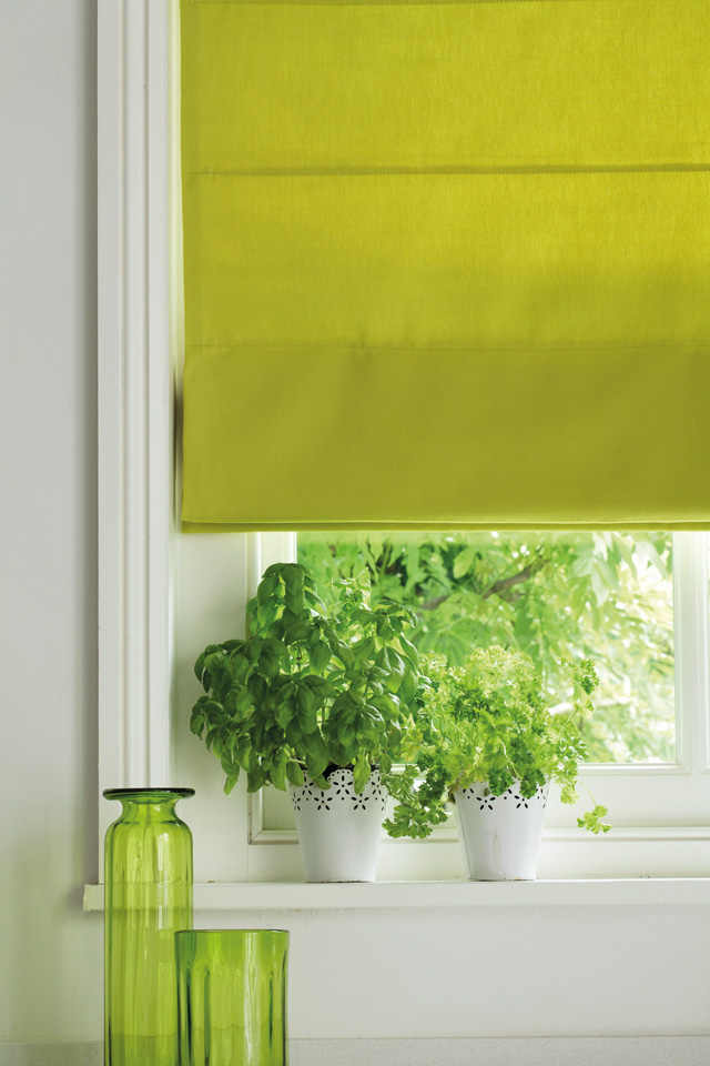 Roman blinds for bay windows on