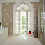 Custom fitted wooden shutters
